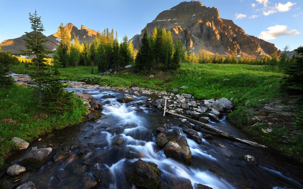 mountain stream wallpapers