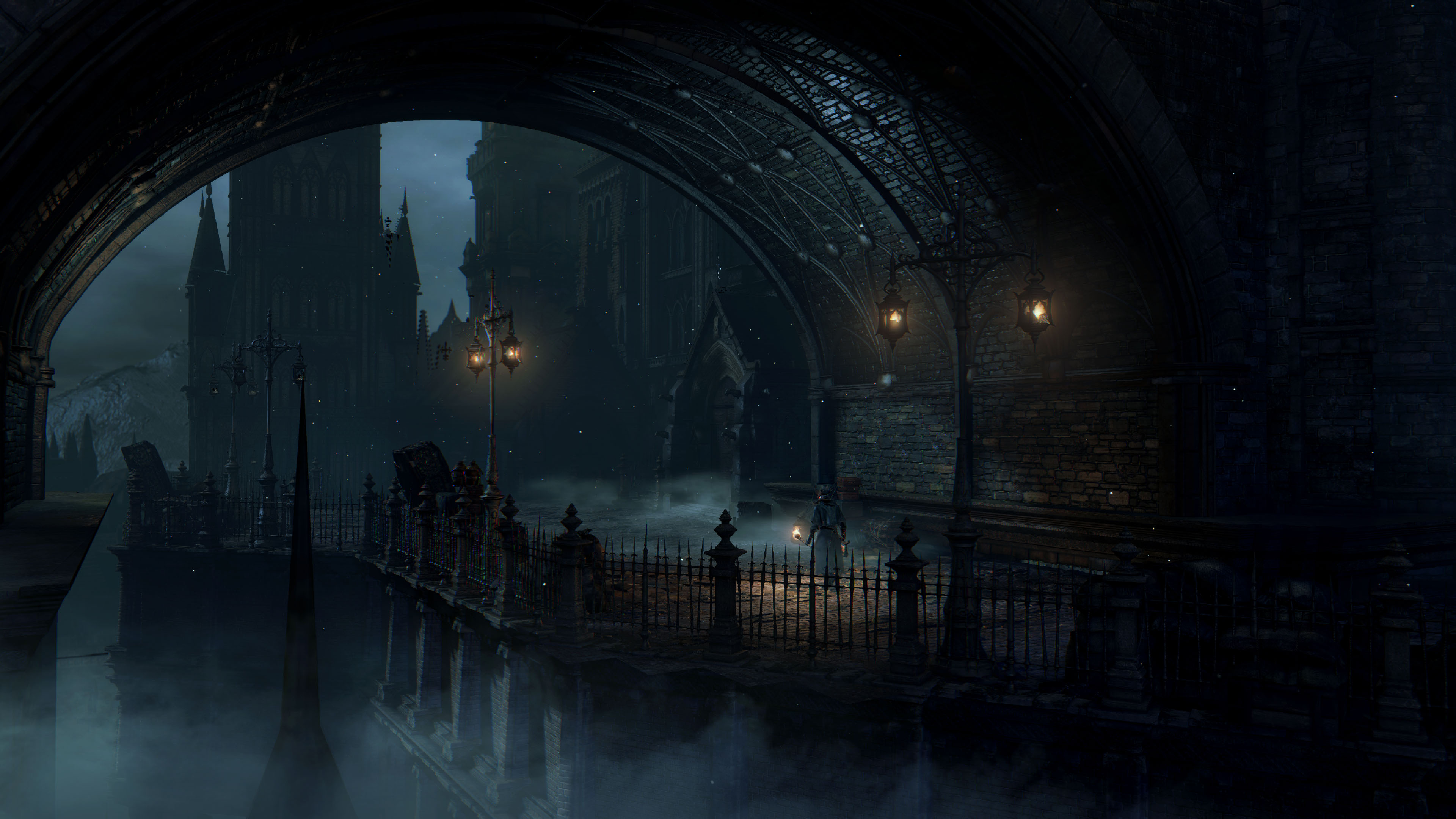 10 hd bloodborne wallpapers - Digital art wallpaper 3840x1080 ...