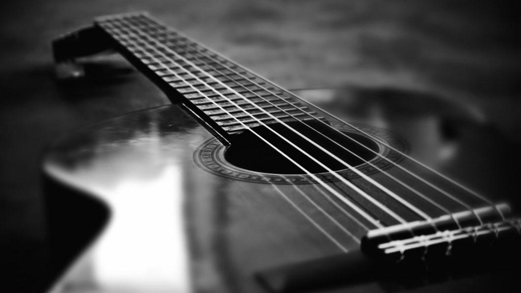 monochrome guitar desktop wallpapers