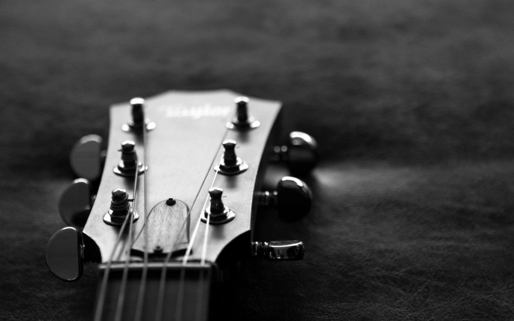 monochrome guitar wallpapers