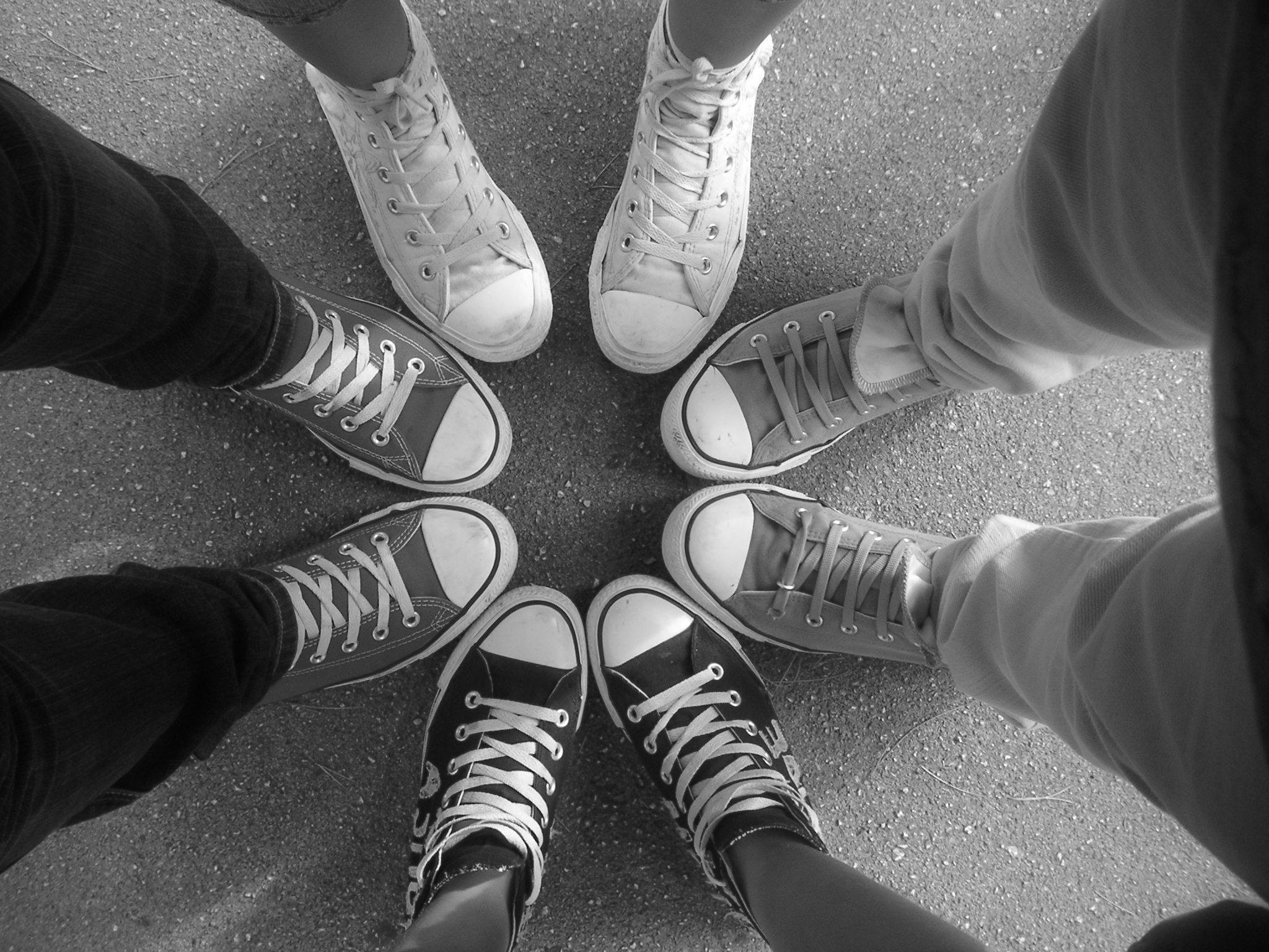 Converse Shoes Black And White In A Circle