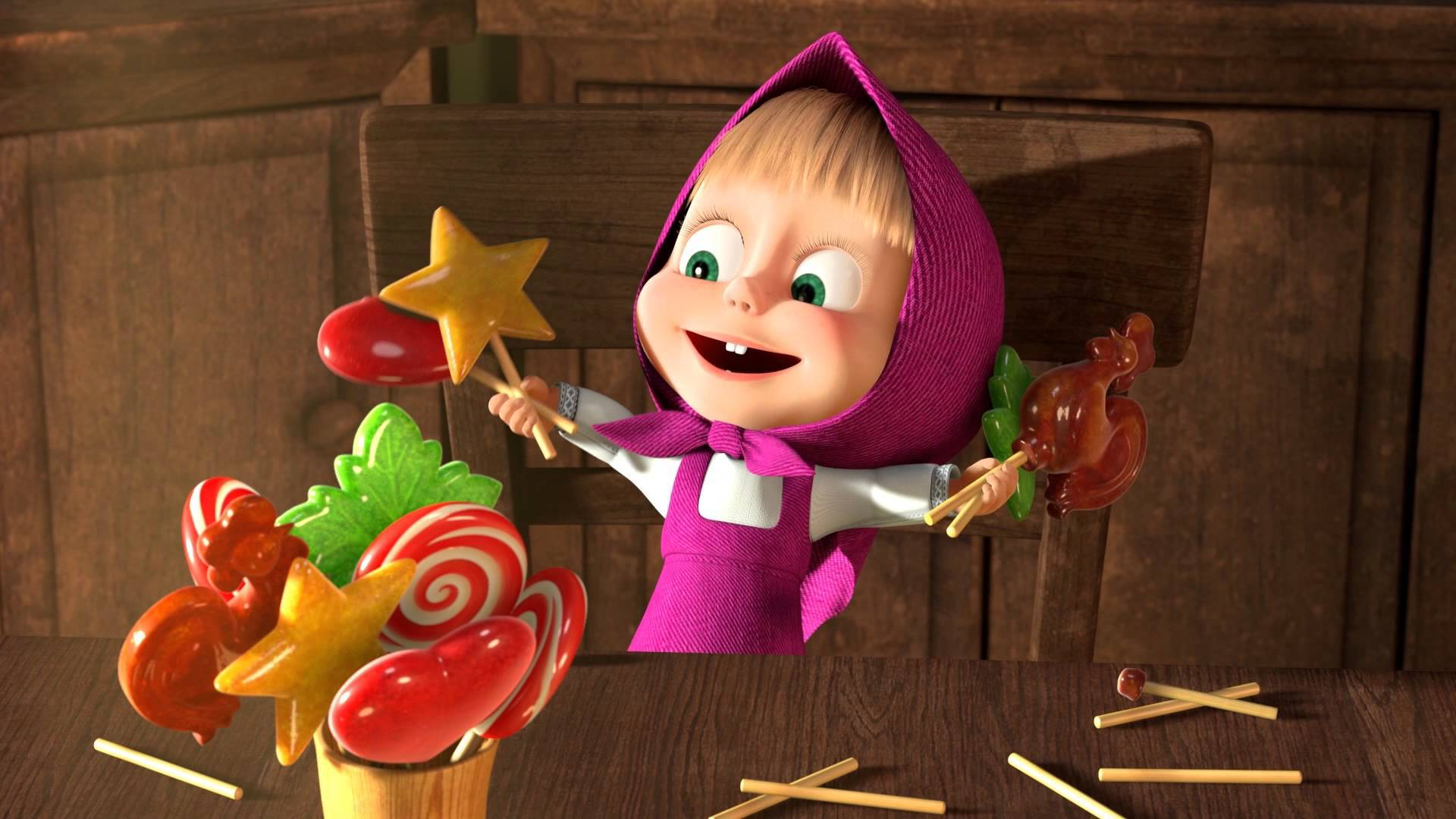 19 HD Masha And The Bear Wallpapers