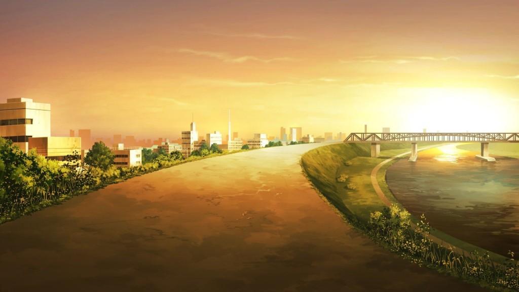 anime city desktop wallpapers