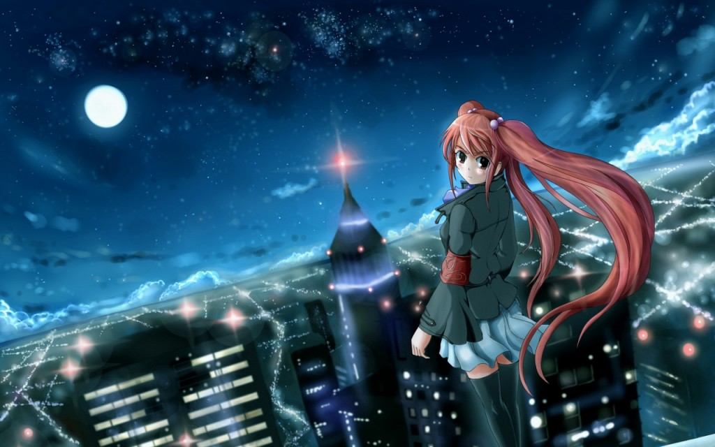 anime city wallpapers