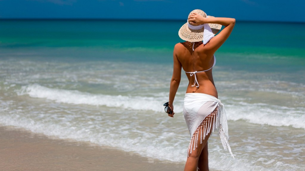 beach vacation woman wallpapers