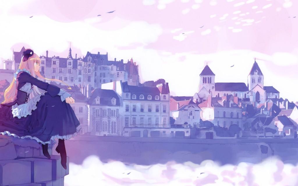 beautiful anime city wallpapers