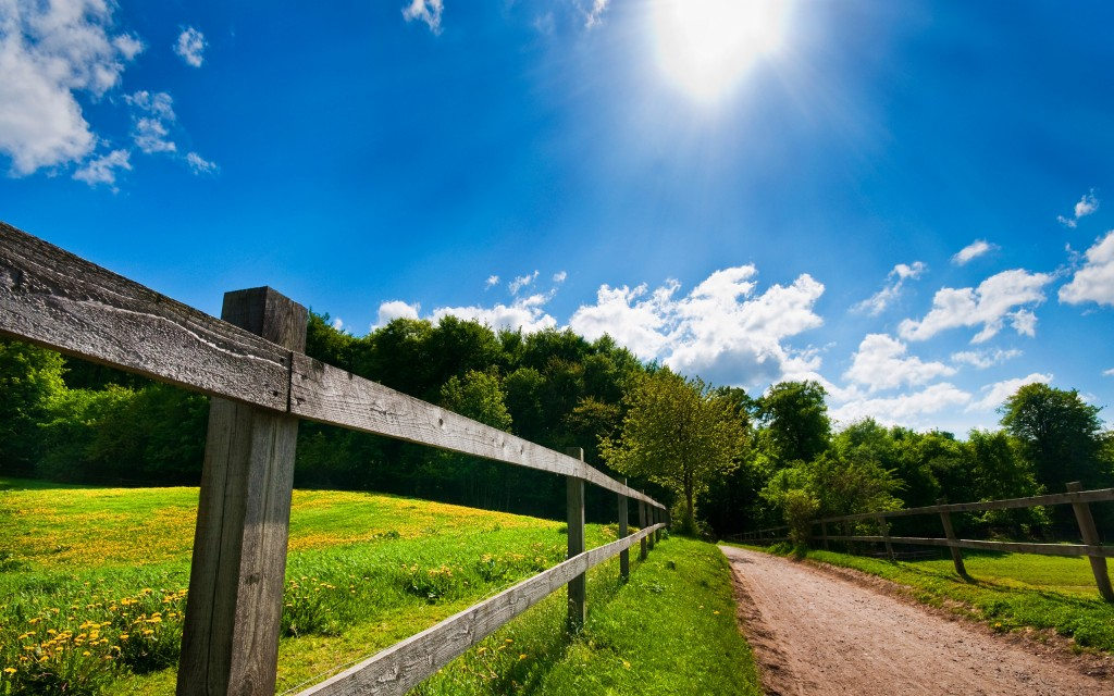 farm fence wide wallpapers