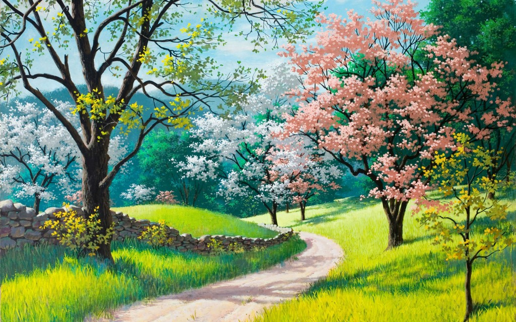 spring painting wallpapers