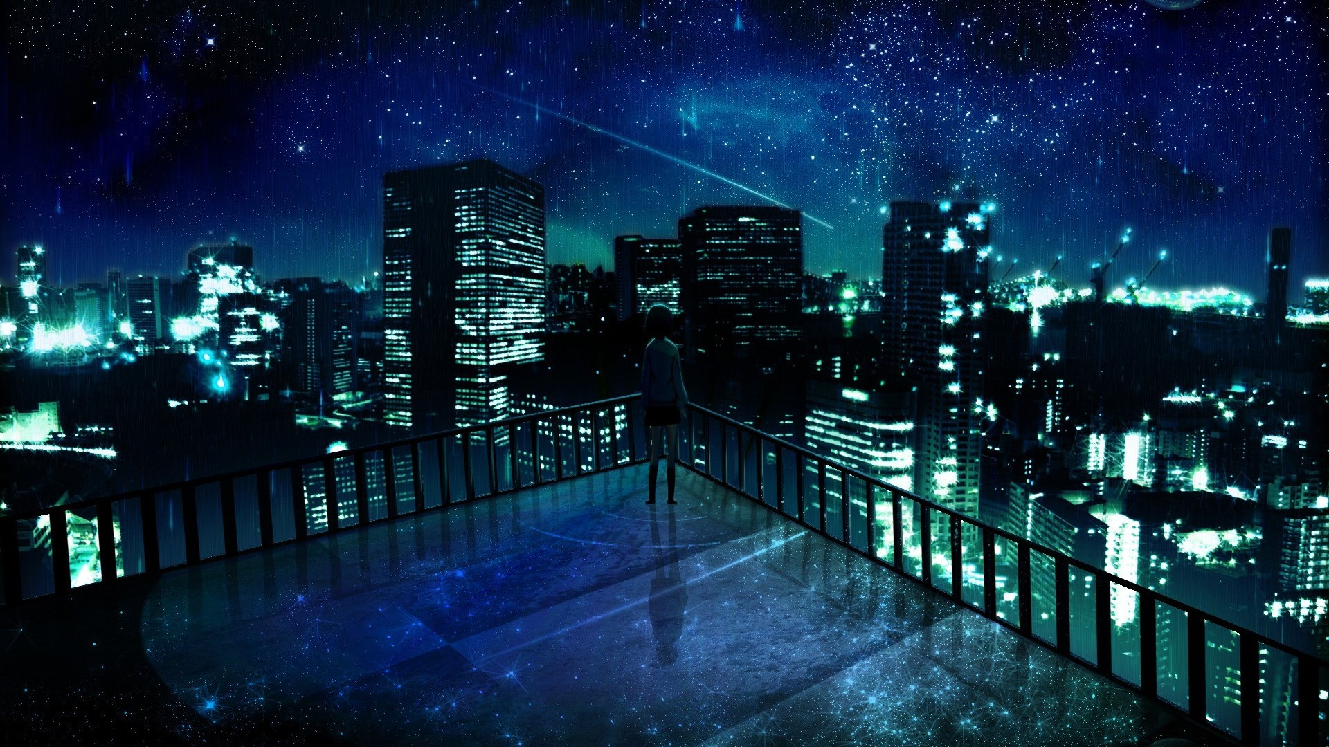 Anime City HD Wallpaper | 1920x1080 | ID:22284