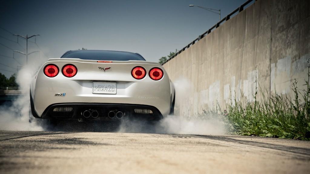 chevrolet corvette car burnout wallpapers