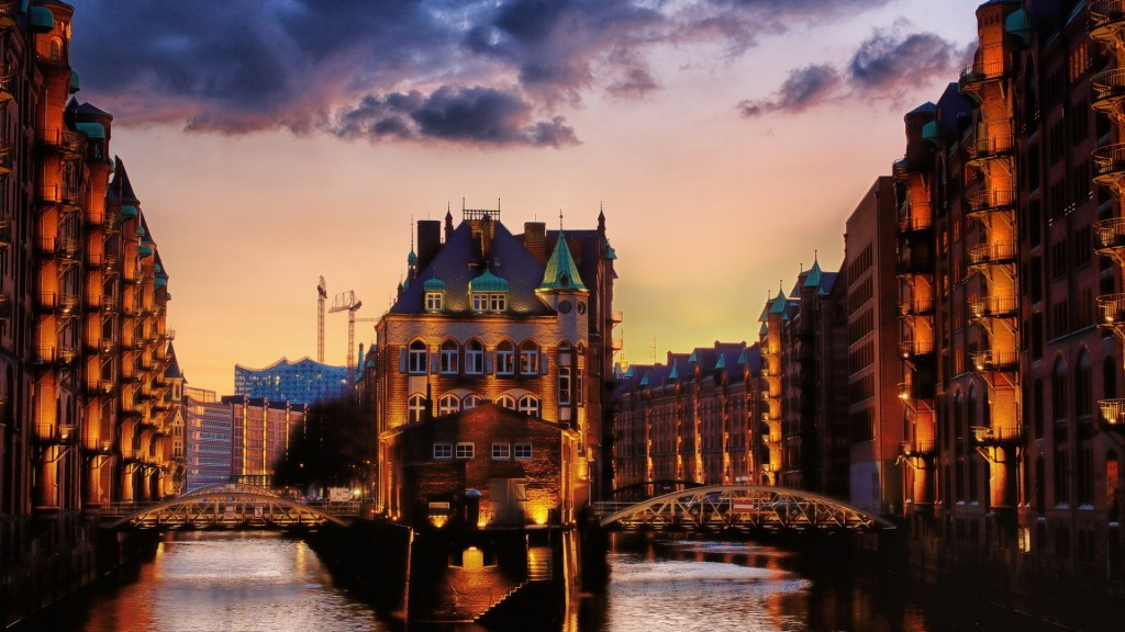 city canal evening wallpapers