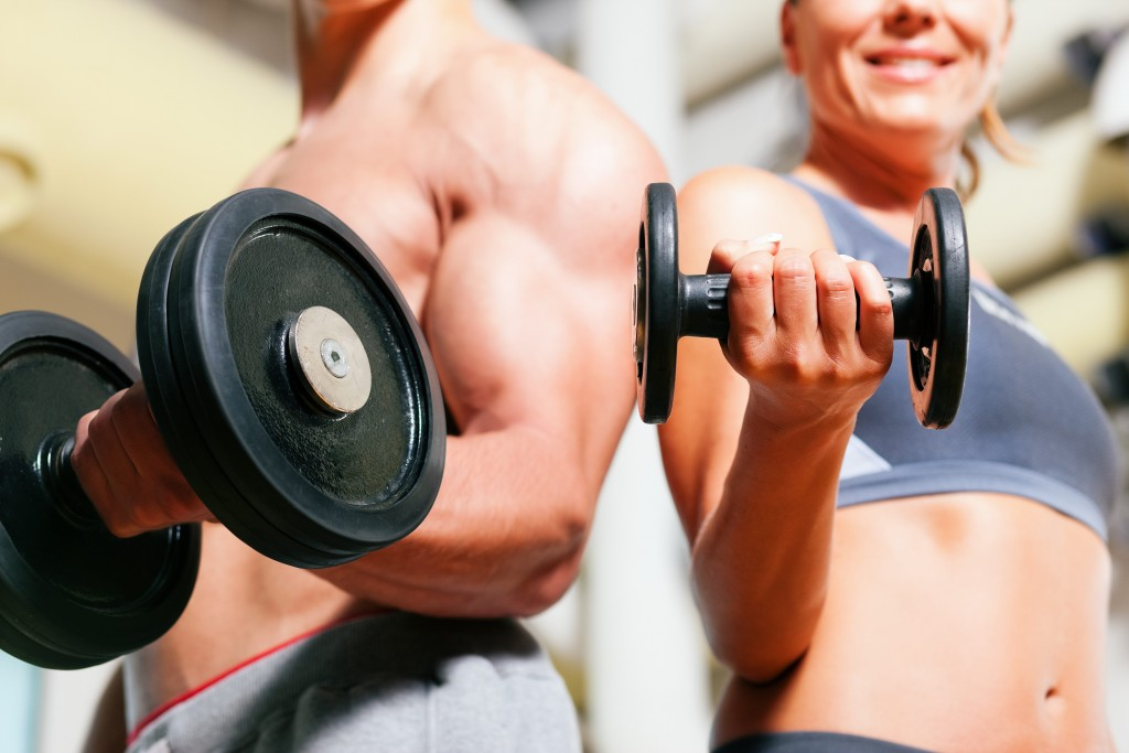 couple-fitness widescreen wallpapers
