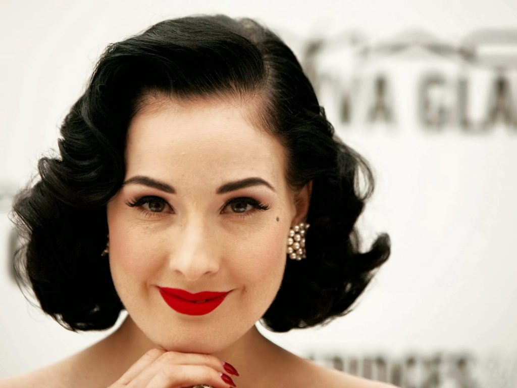 dita von teese face computer wallpapers