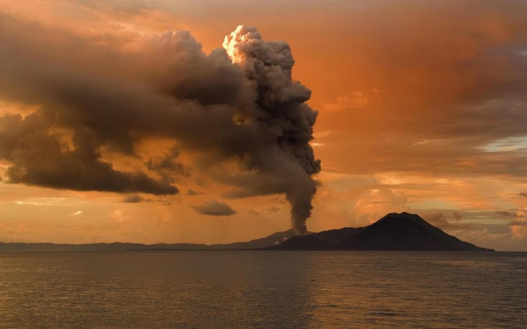 free volcano smoke wallpapers