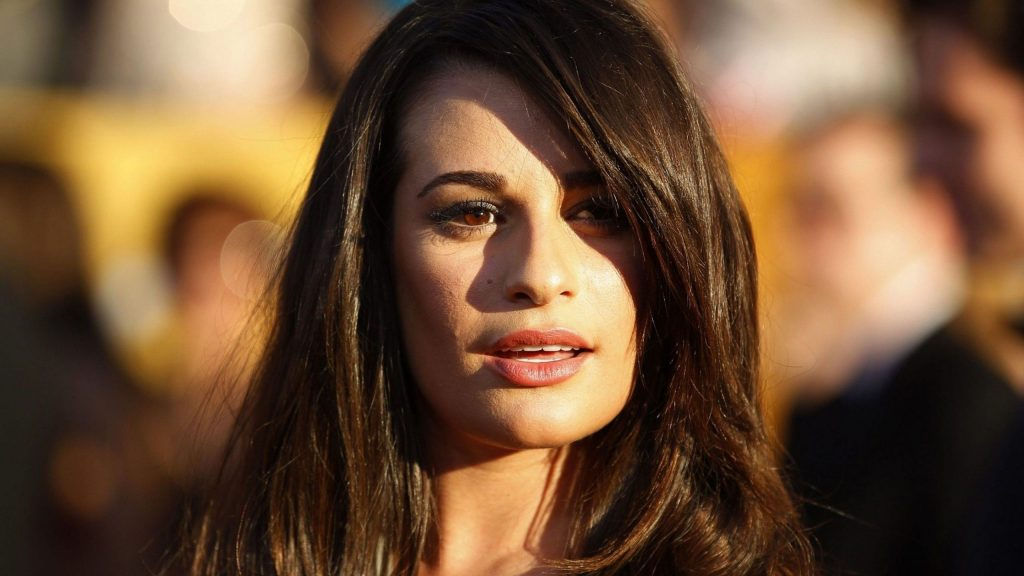 lea michele face background wallpapers