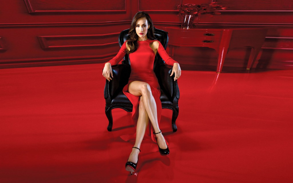 maggie q red dress wallpapers