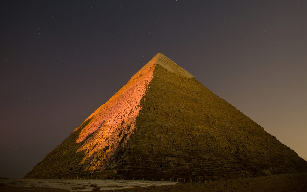 pyramid evening background wallpapers