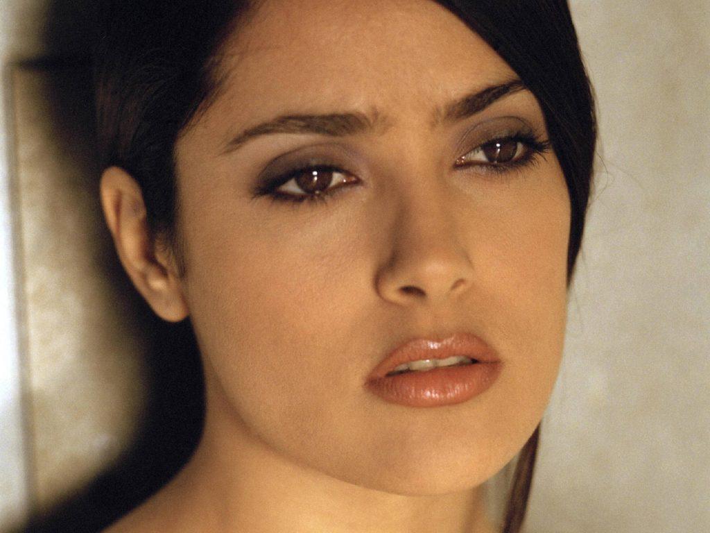 salma hayek face computer wallpapers