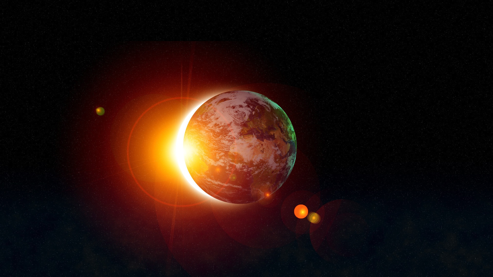 9 Awesome HD Solar Eclipse Wallpapers