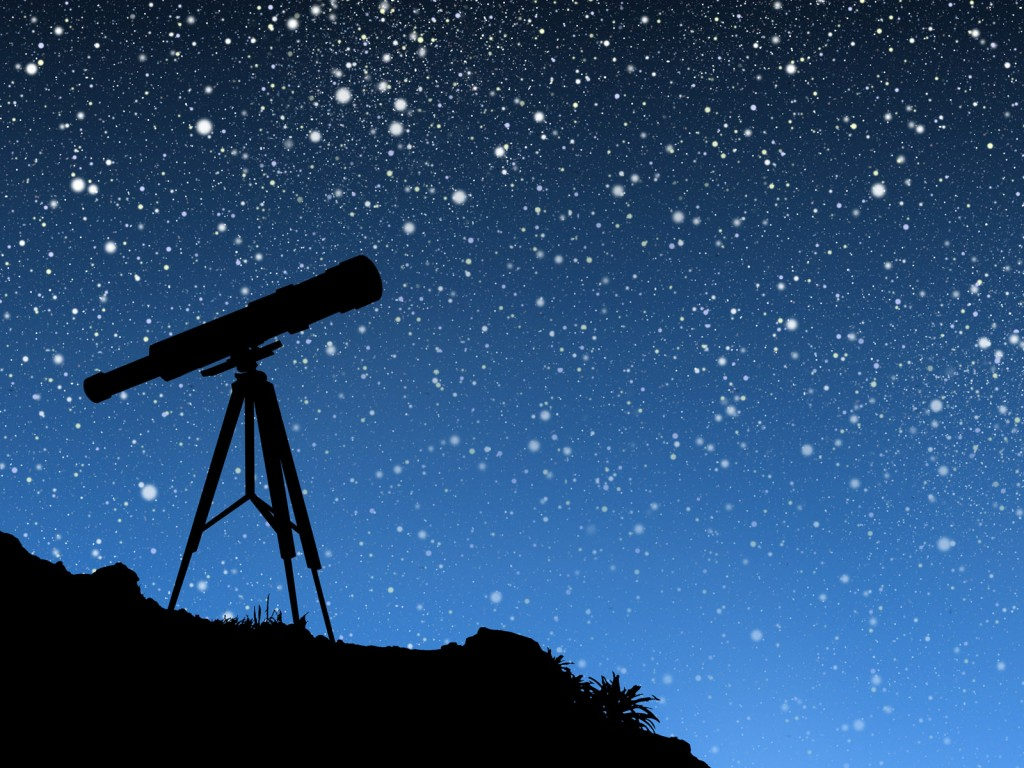 telescope silhouette art wallpapers