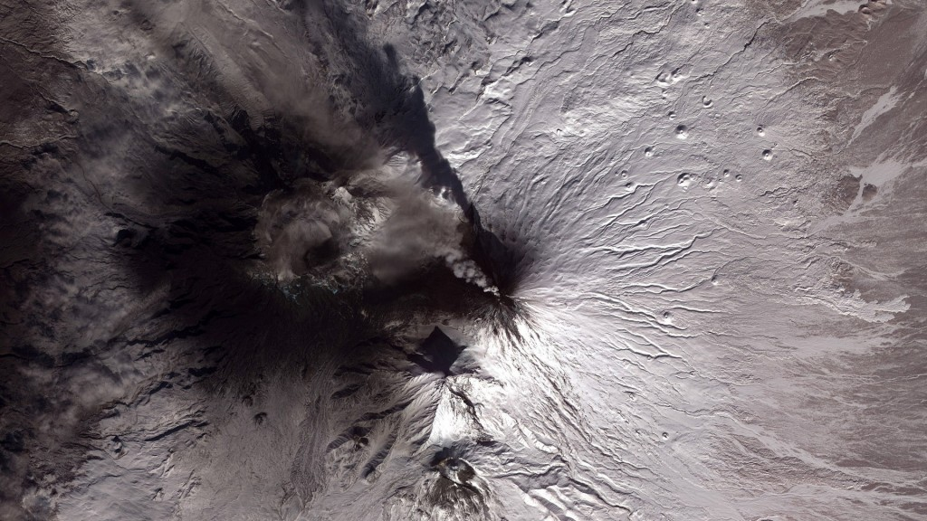 volcano smoke aerial view wallpapers
