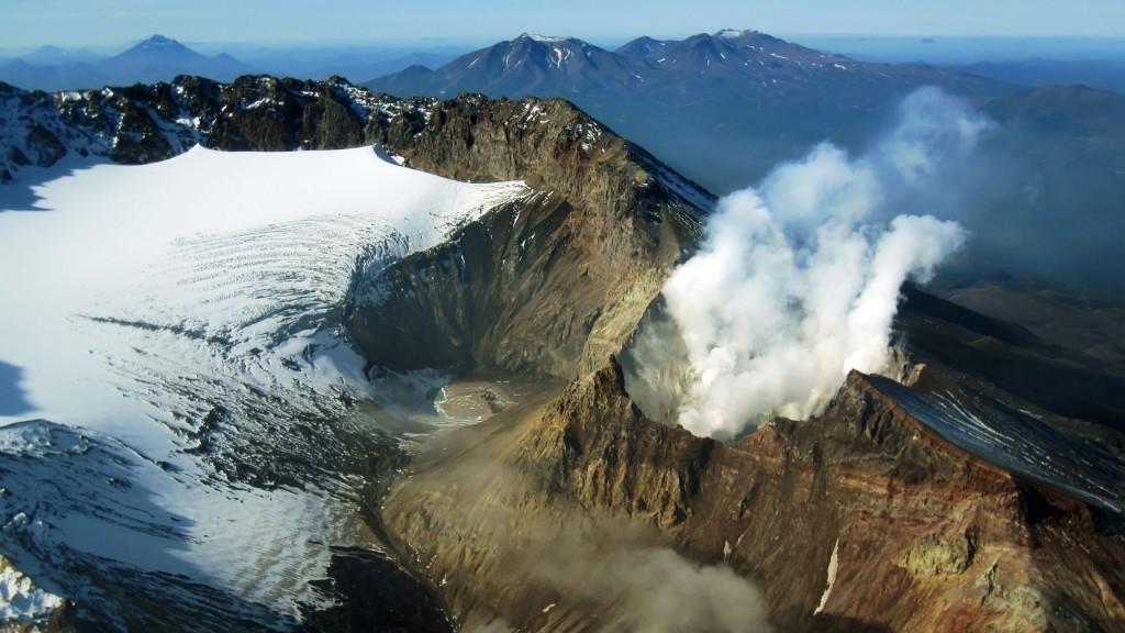 volcano smoke widescreen wallpapers