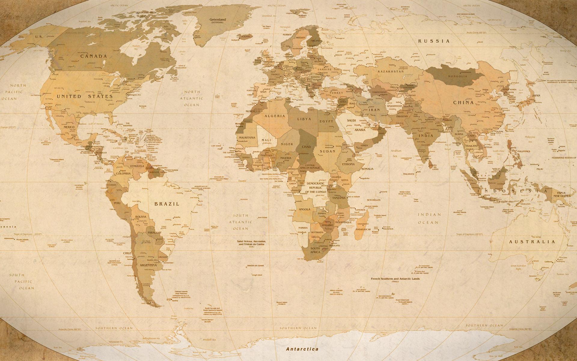 21 Fantastic HD World Map Wallpapers