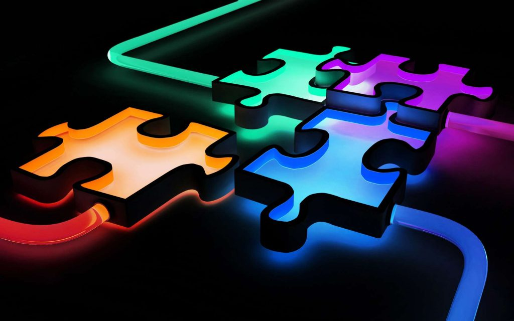 3d colorful puzzle wallpapers