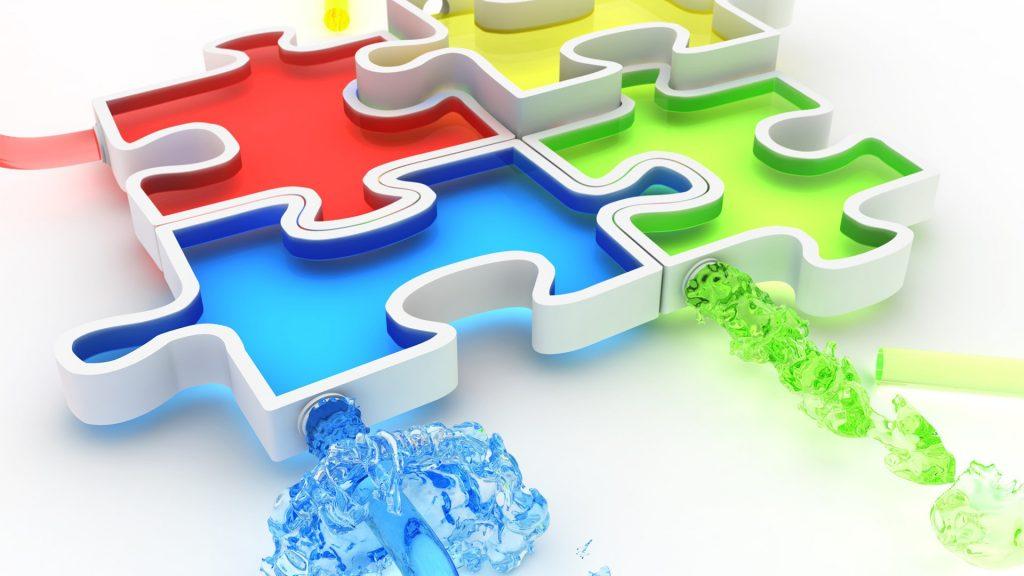 3d multicolor puzzle wallpapers