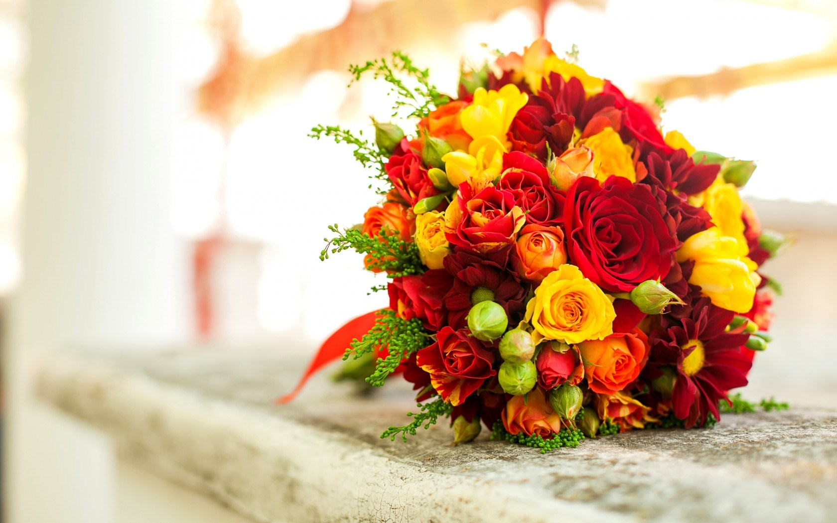 15 wonderful hd flower bouquet wallpapers - Bouquet of red roses hd images ...