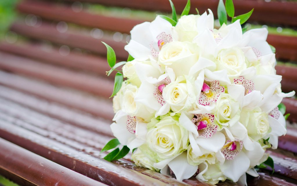 white flower bouquet wide wallpapers
