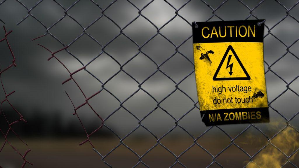 zombie fence desktop wallpapers