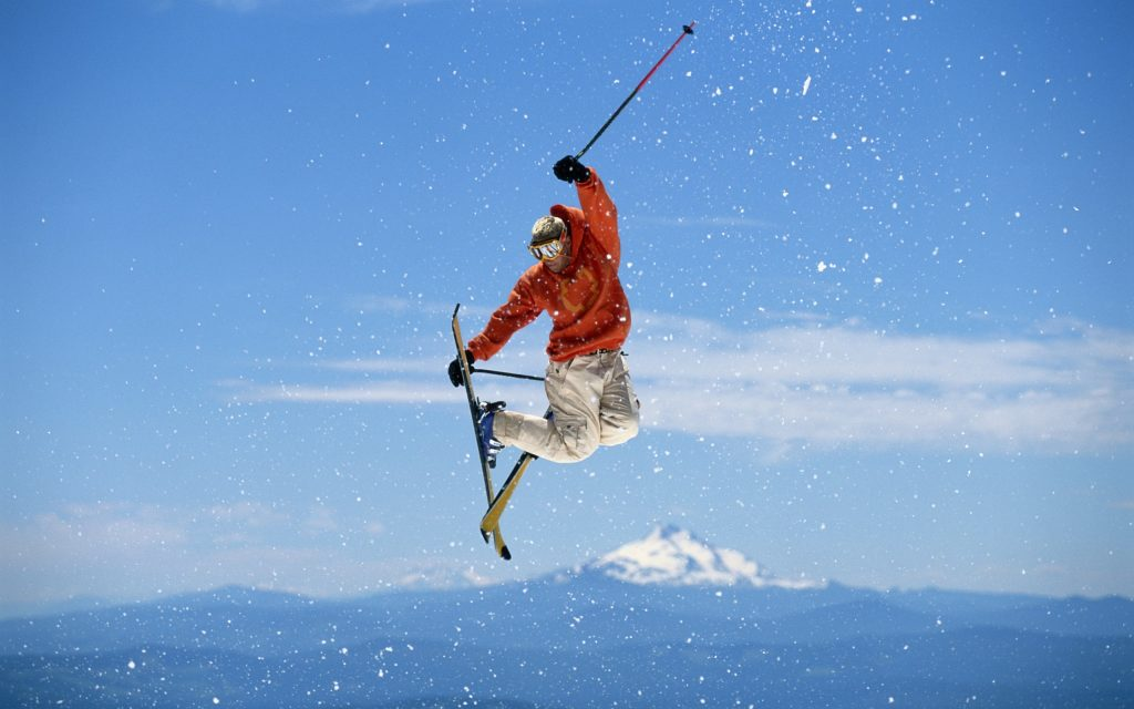 skiing trick background wallpapers