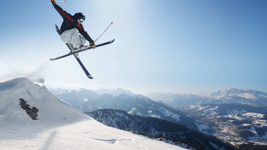 skiing trick widescreen wallpapers