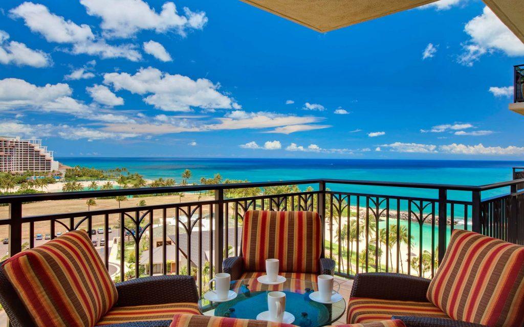 balcony ocean view wallpapers