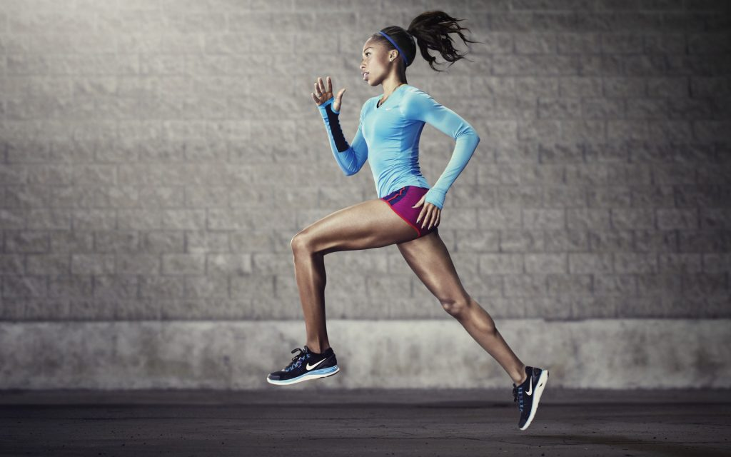 running girl widescreen wallpapers