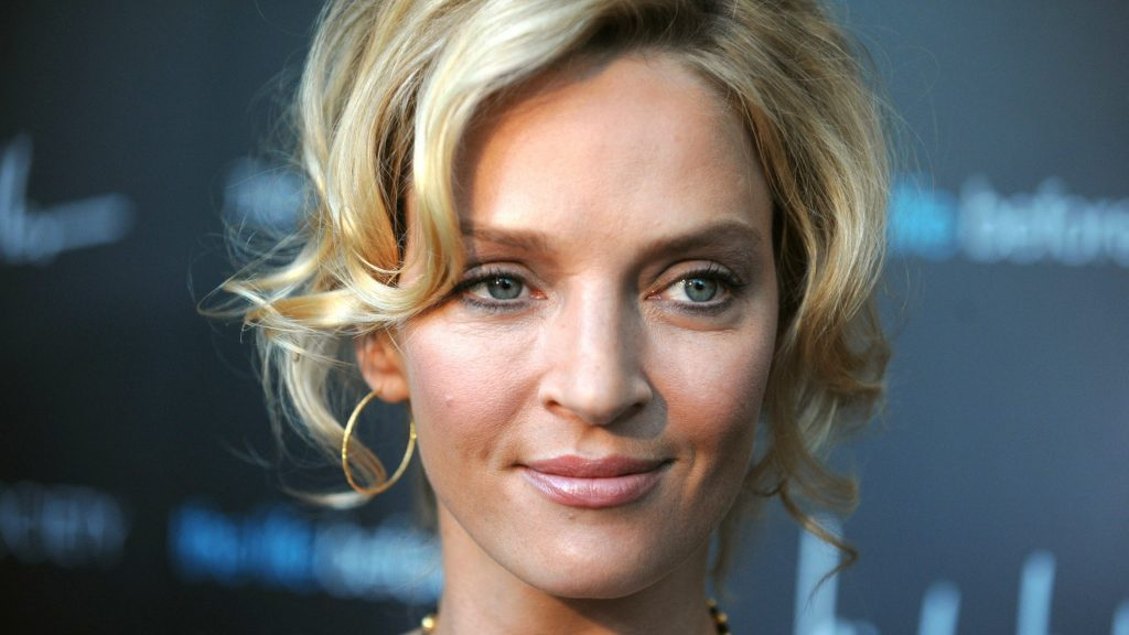 uma thurman face widescreen wallpapers