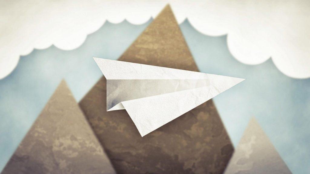 paper airplane art widescreen wallpapers
