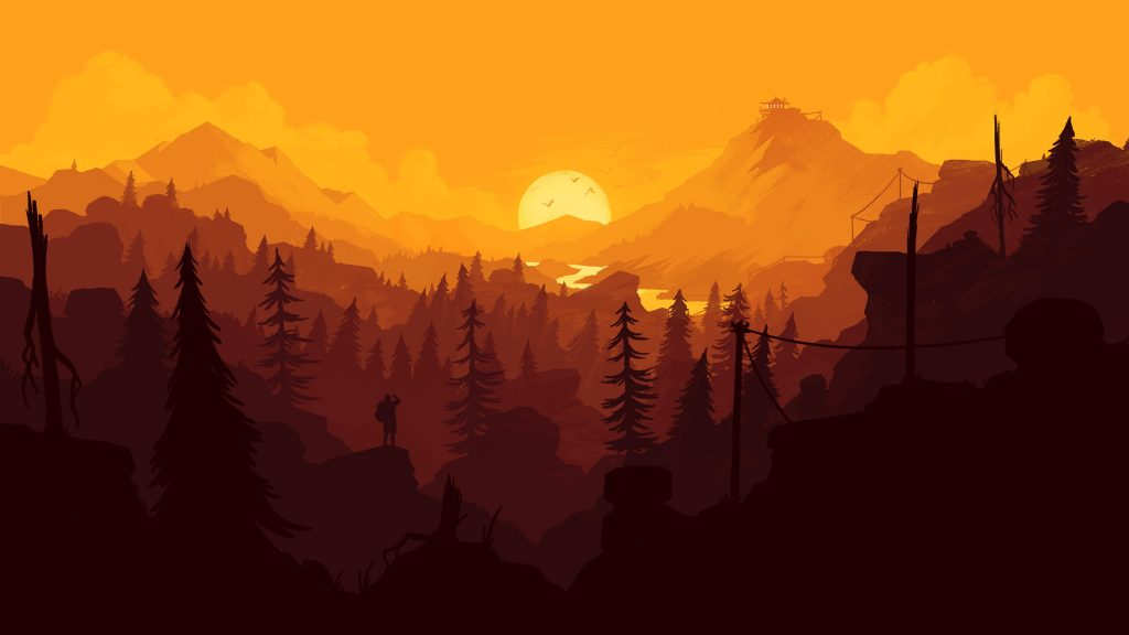 firewatch landscape wallpapers