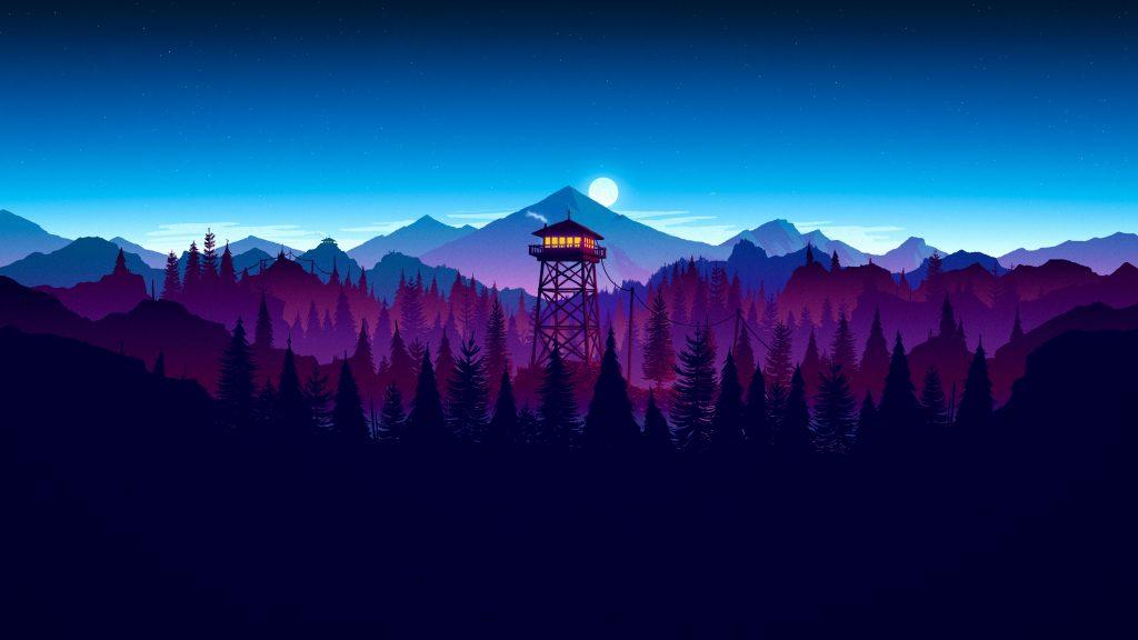 firewatch night widescreen wallpapers